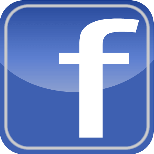 Facebook blue letter f logo and kink