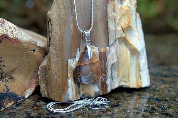 golden shine teardrop shape gemstone pendant