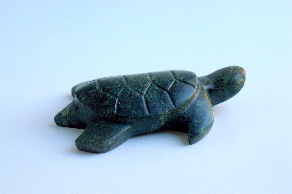 Turtle figurine soapstone carving