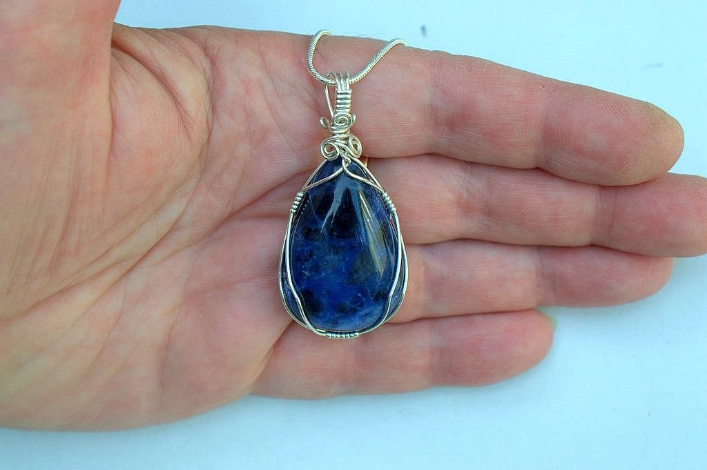 Blue stone jewelry, Sodalite necklace