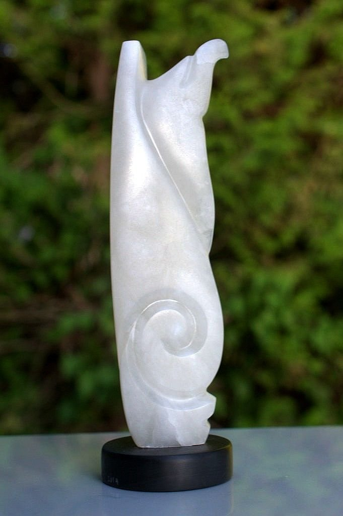 Totem stone carving, Alabaster small statue