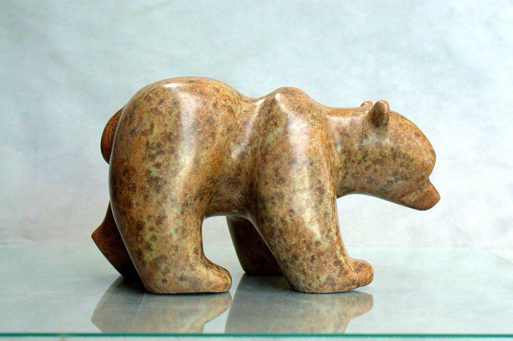 Bear carving, soapstone figurine