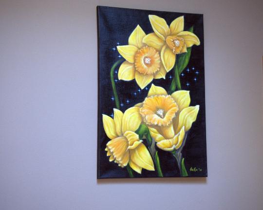 Birthmonth flower,Daffodil,original oil painting |sagastone