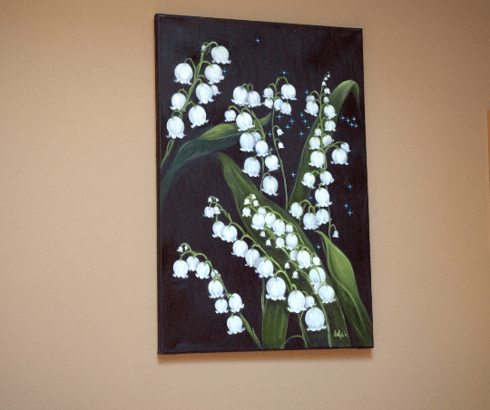 Lily of the Valley,oil painting on stretched canvas |sagastone