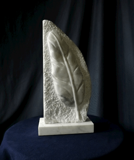 """Marble relief """"Feather"""""""