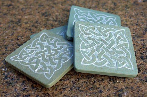 Square Celtic knots design