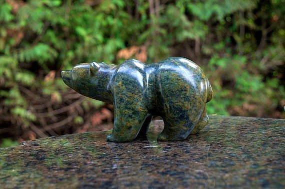 soapstone bear figurine sculpture