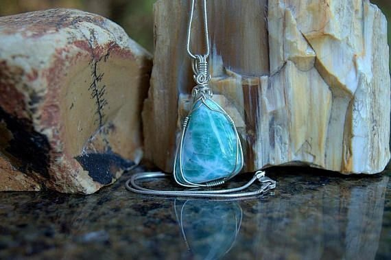 Dominican Larimar crystal