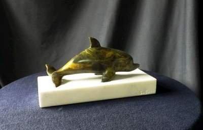 Soapstone dolphin figurine