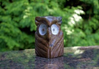 Owl soapstone figurine