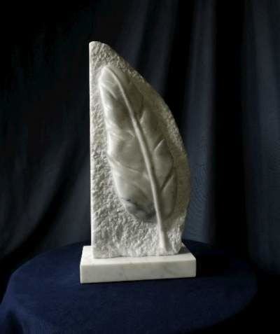 Marble relief Feather carving