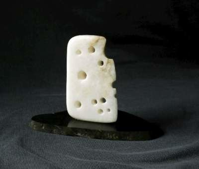 Alabaster cheese figurine