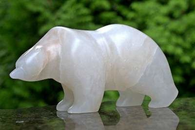Polar bear Alabaster carving
