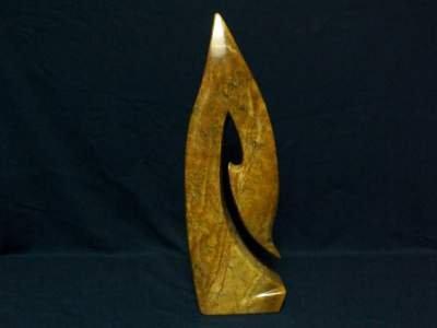 Soapstone Hei Matau sculpture