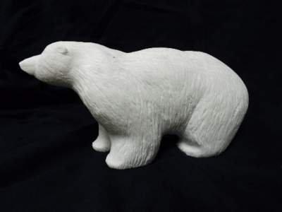 Marble stone polar bear