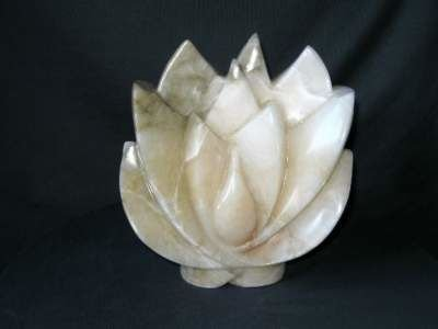 Alabaster lotus sculpture