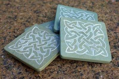 Square Celtic knots design