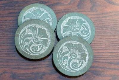 Poppy design coaster set