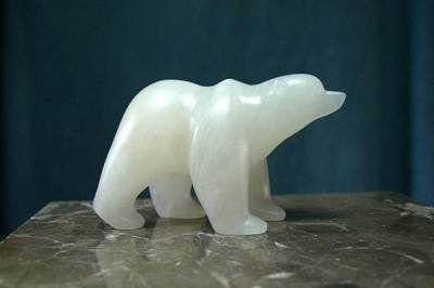 White polar bear figurine