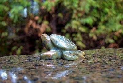 Turtle soapstone figurine