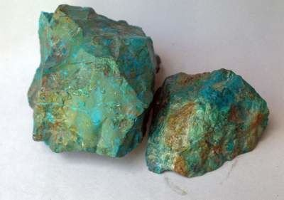 Blue copper mineral specimen