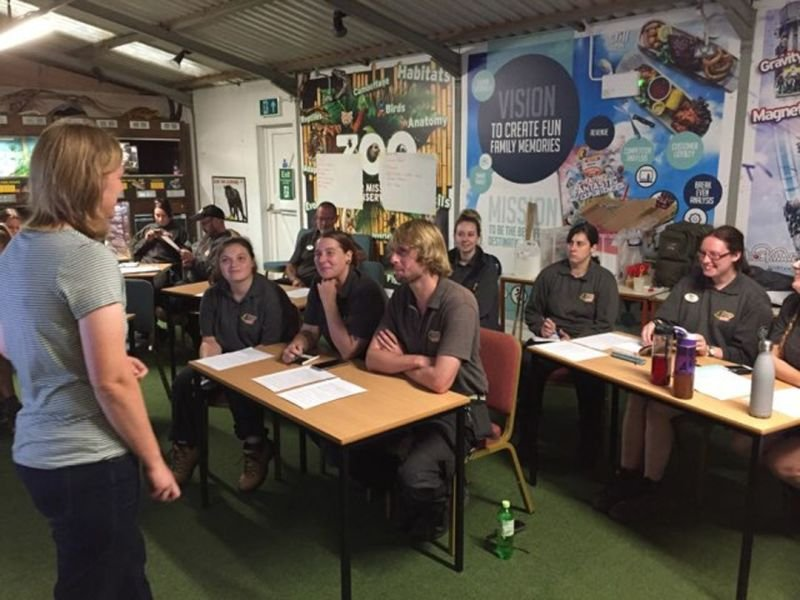 Browse workshop for keepers at Drayton Manor Zoo 2019