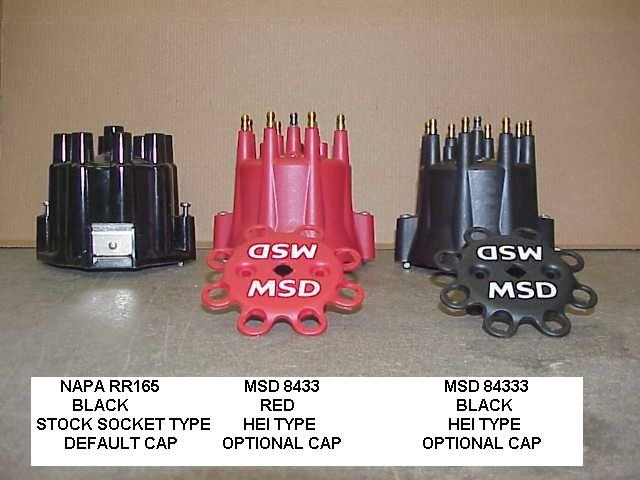 "Stock socket & MSD HEI Terminal small-diameter Caps for G.M. ""Window"" Points Distributors"