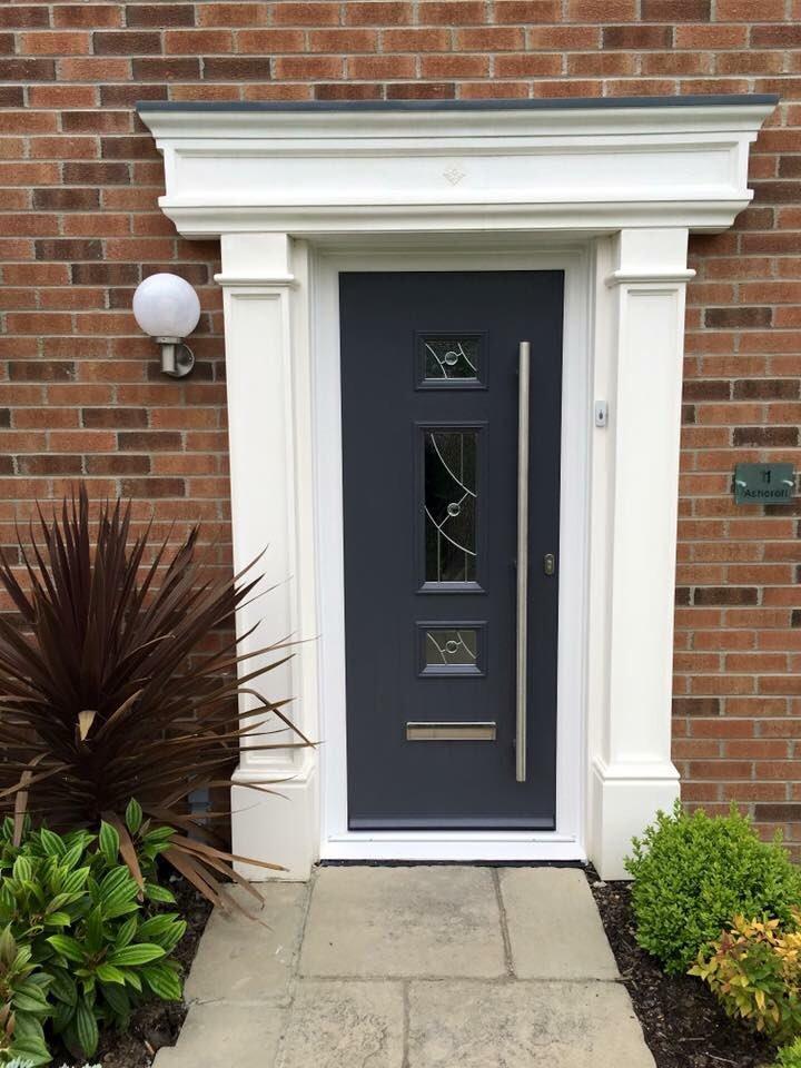 Anthracite Grey Composite Front Door - REFRB.uk Ltd