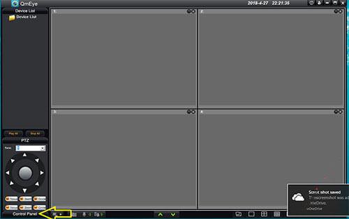 Bảng điều khiển Contel trong phần mềm của QMEye
