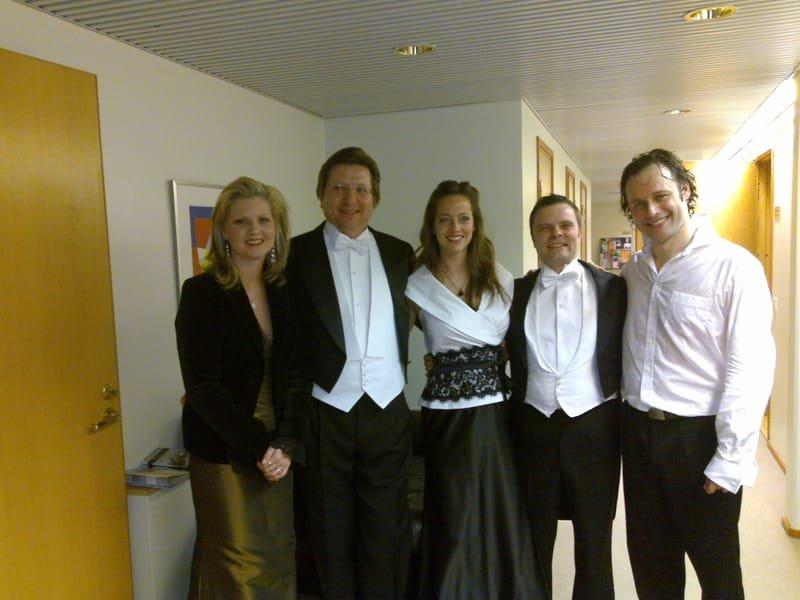 Après concert de la 9ième de Beethoven avec le KUOPIO SYMPHONY ORCHESTRA