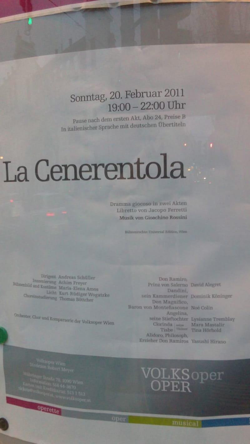 Ma première fois au Volksoper de Vienne!