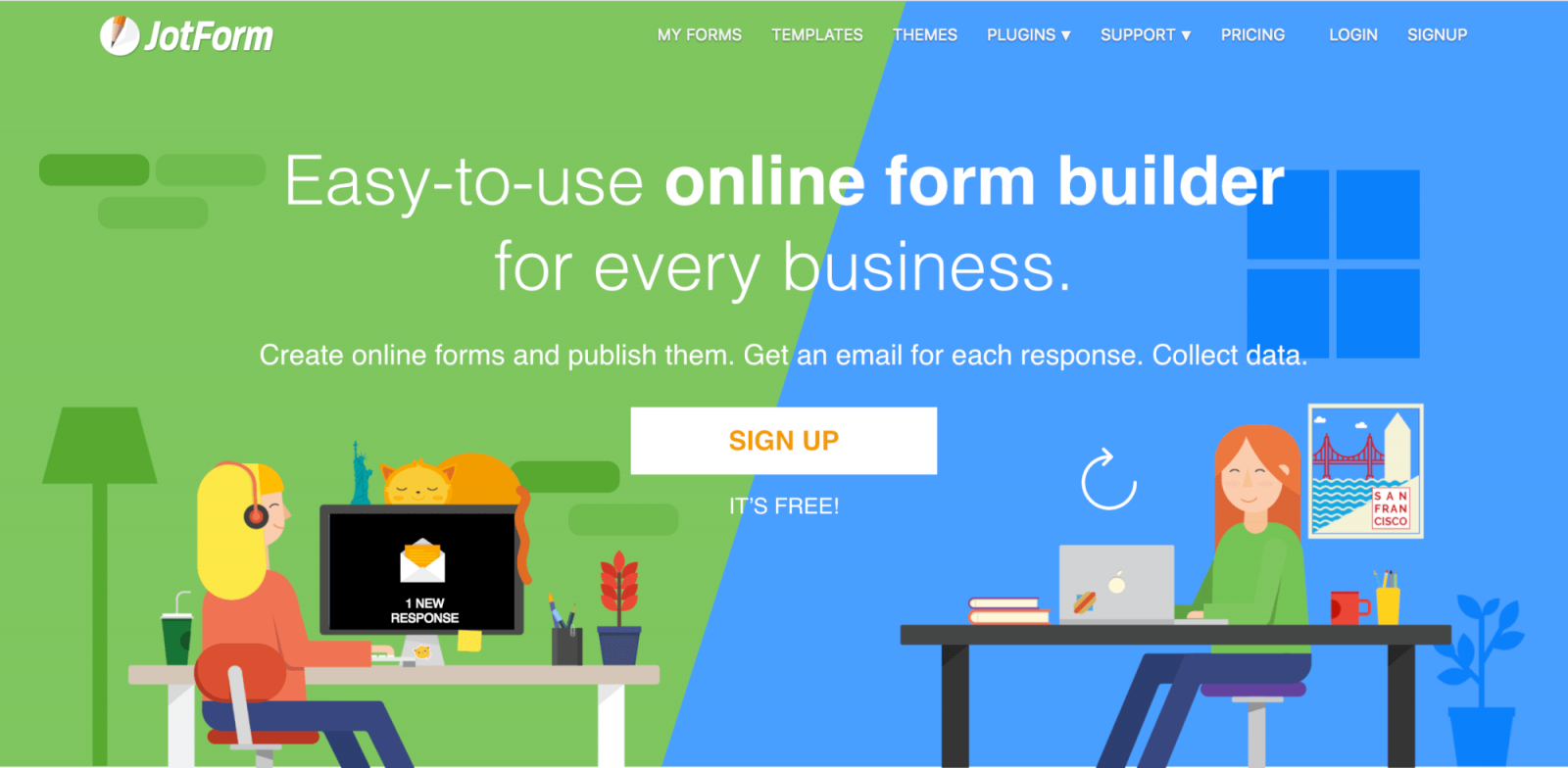 JotForm for your SITE123 website