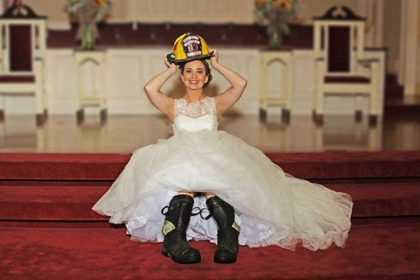 Charleston fireman wedding