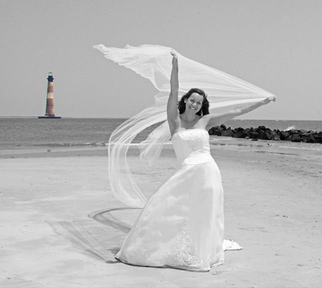 Folly beach bride