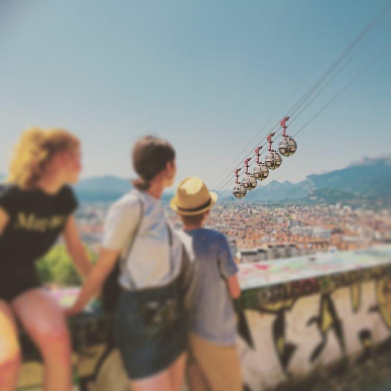 Grenoble en couleurs #34 Bastille et son téléphérique