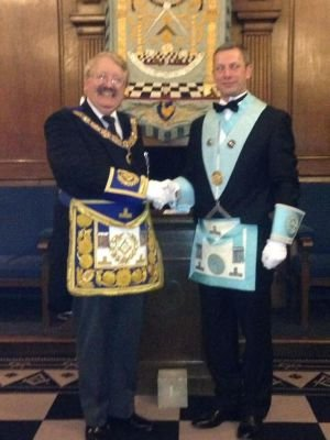 Worshipful Master Meets the Provincial Grand Master