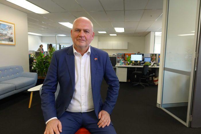 Matthew Miles in the MS Australia offices