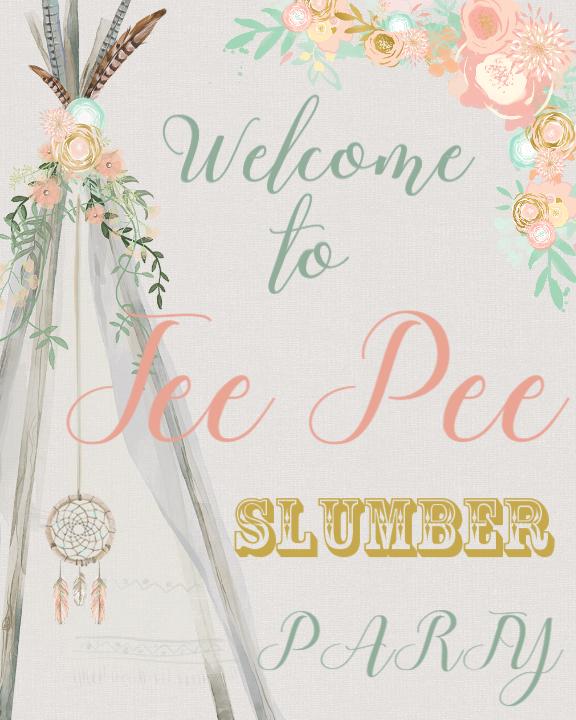 Tee Pee Slumber Party