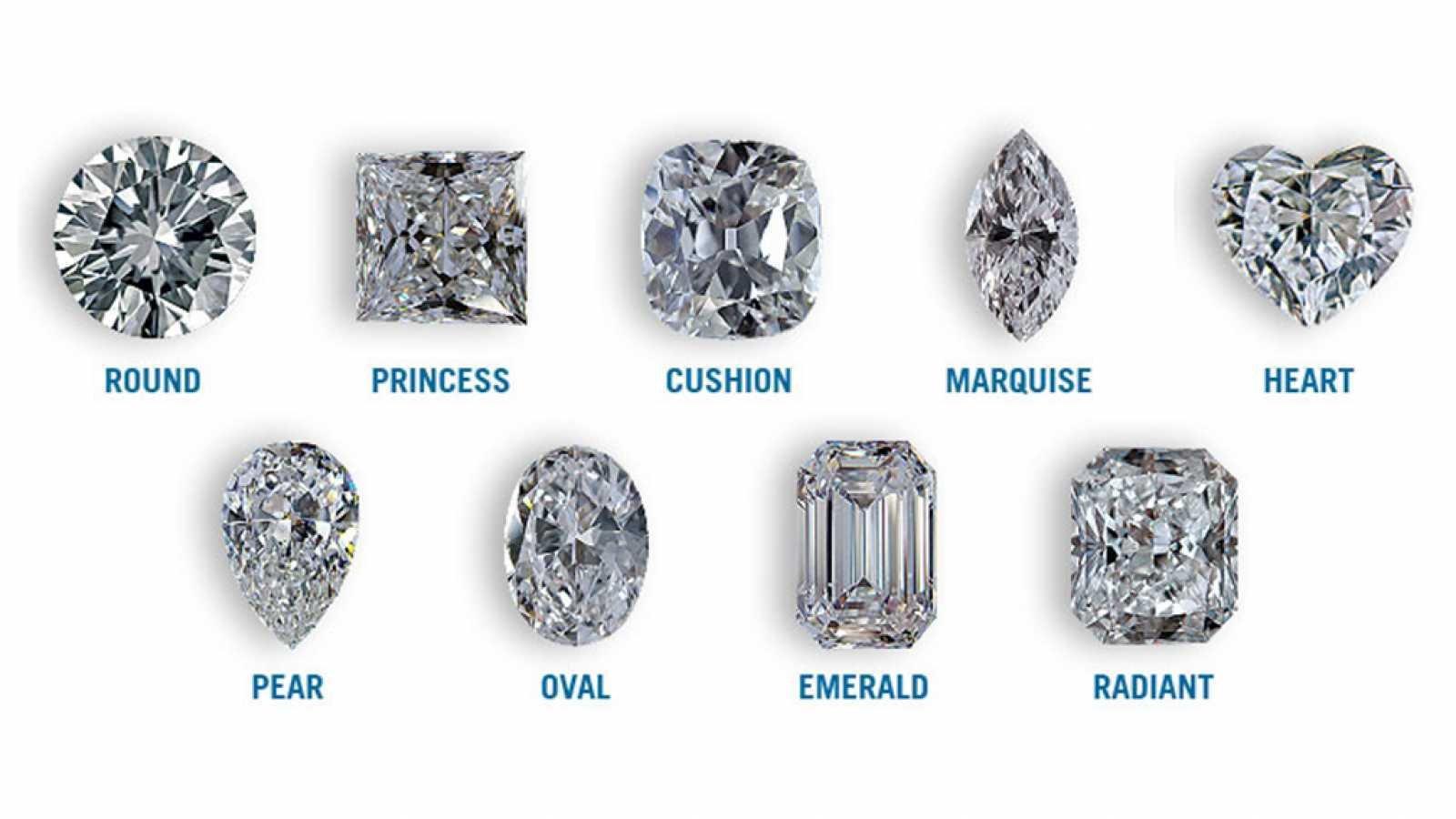 צורות שונות של יהלומים
