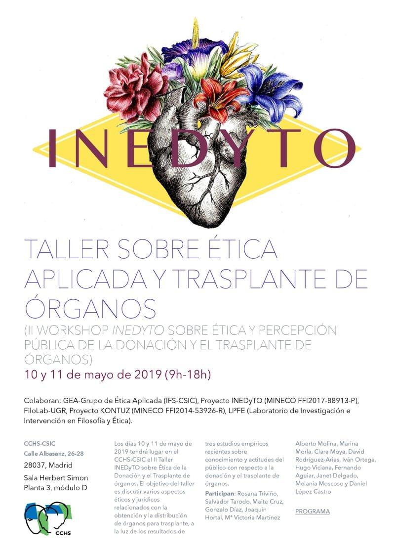 Taller sobre ética aplicada y trasplante de órganos