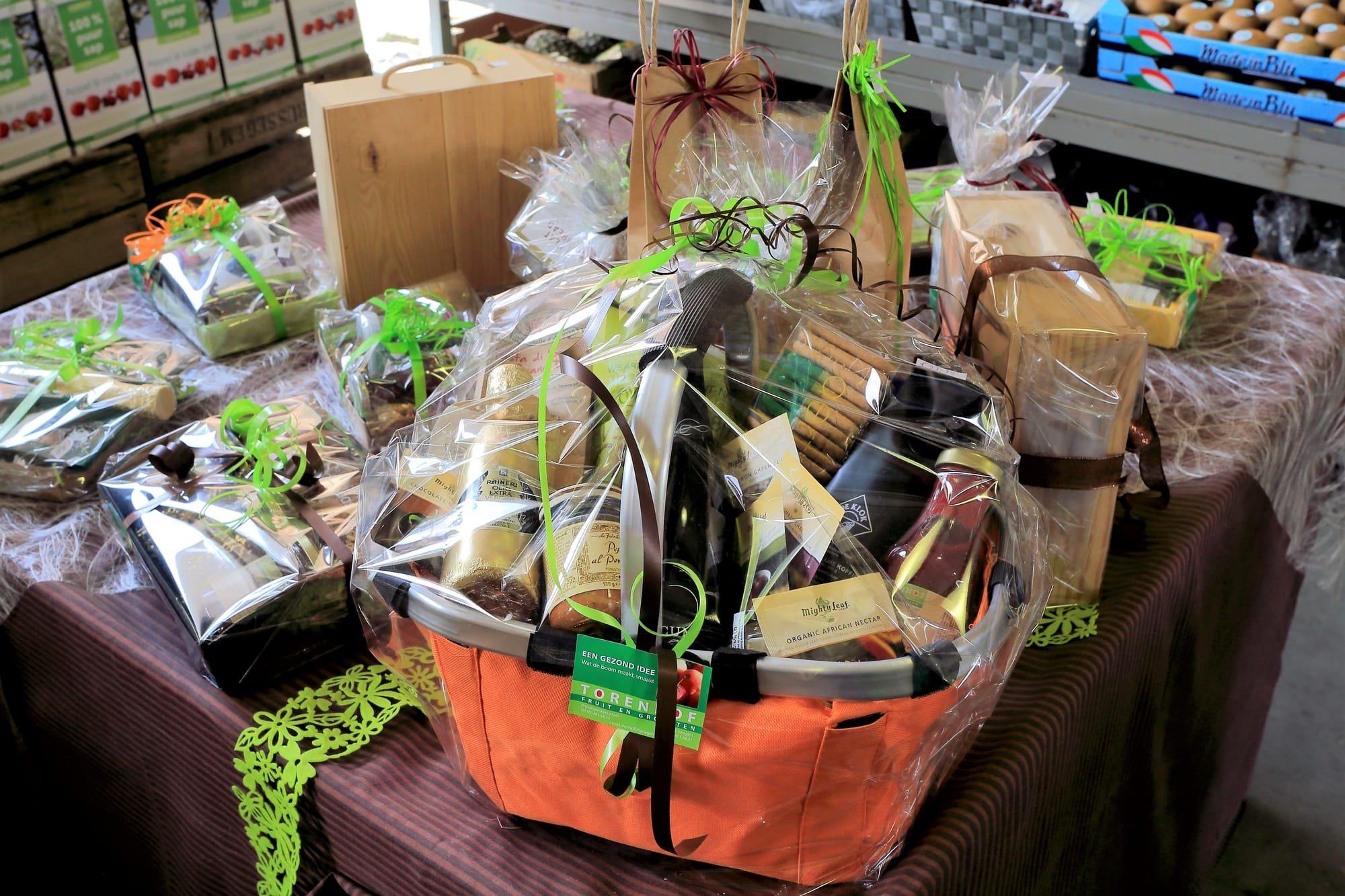 Geschenkmanden of -cheques zijn een ideaal geschenk tijdens de feestdagen