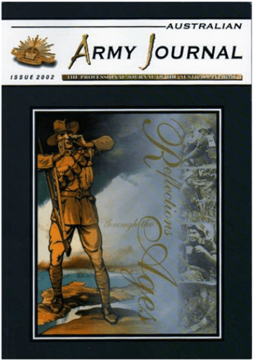 Magazine cover design - Australian Army Journal