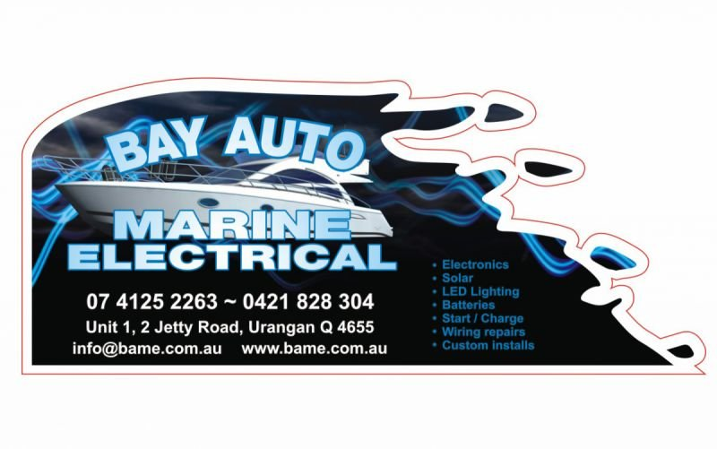 Adhesive label with die cut - Bay Auto Marine Electrical