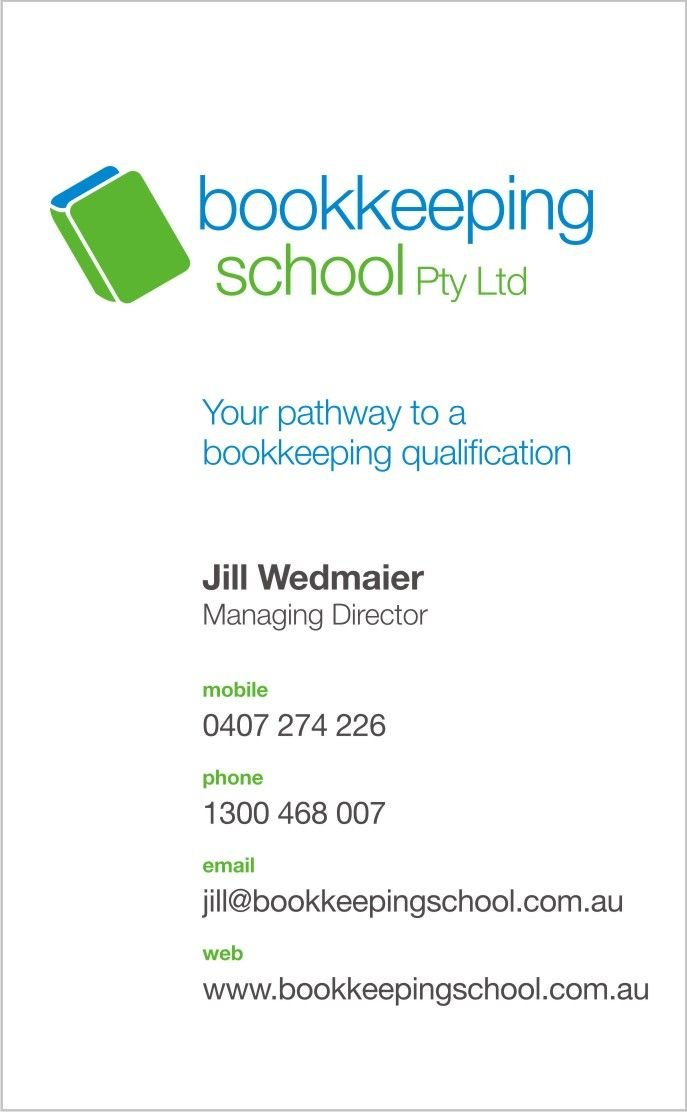 Business Card - Bookkeeping school