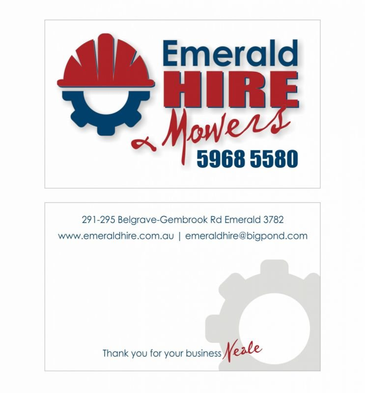 Business cards - Emerald Hire