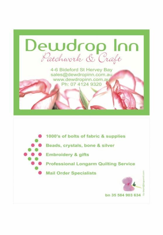 Logo and business card design - Dewdrop Inn