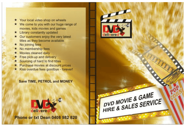 A5 Flyer - DVD Home Delivered