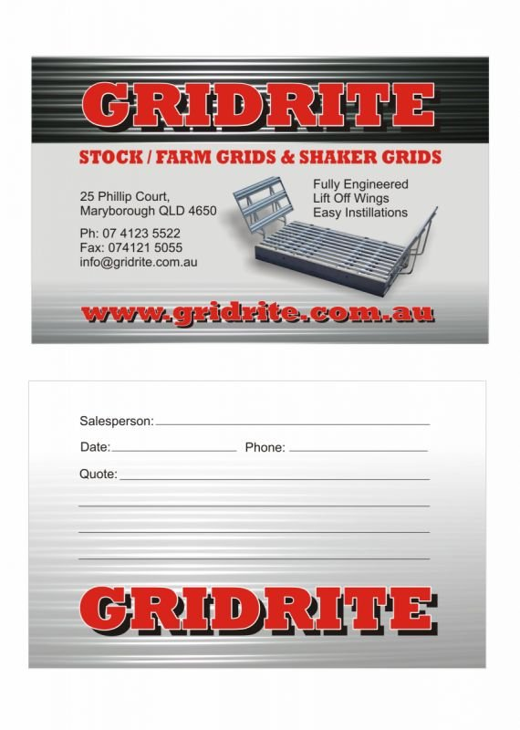 Business card - Gridrite