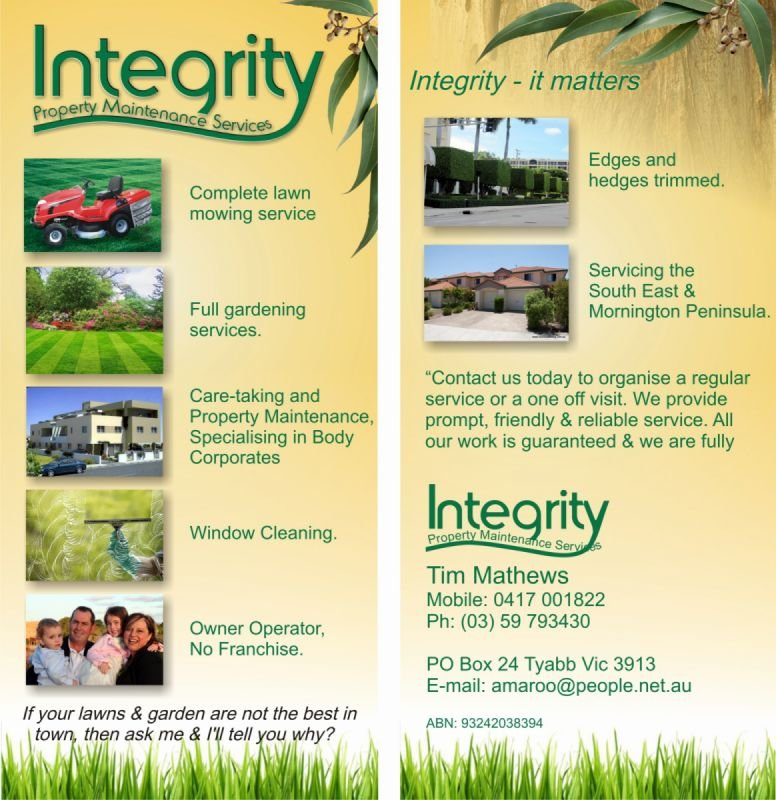 DL Brochure - Integrity Garden Maintenance