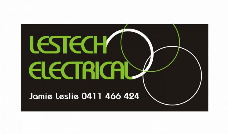 Logo and business card design - Lestech Electrical